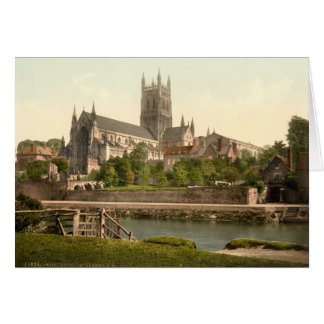 Worcester Cathedral II, Worcestershire, England Greeting Card