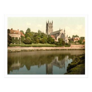 Worcester Cathedral, Worcestershire, England Postcard