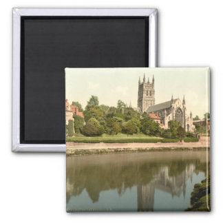 Worcester Cathedral, Worcestershire, England Square Magnet