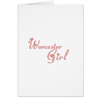 Worcester Girl tee shirts Greeting Card