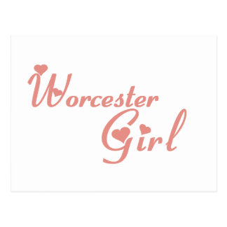 Worcester Girl tee shirts Post Cards