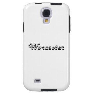 Worcester Massachusetts Classic Retro Design Galaxy S4 Case