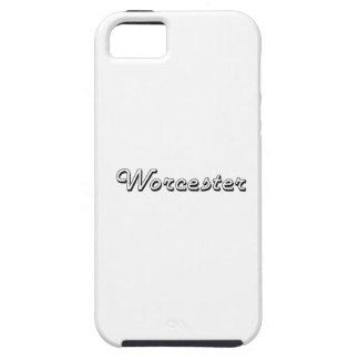 Worcester Massachusetts Classic Retro Design iPhone 5 Covers