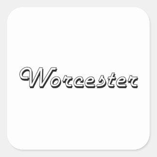 Worcester Massachusetts Classic Retro Design Square Sticker