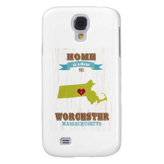 Worcester, Massachusetts Map – Home Is Where Galaxy S4 Cases