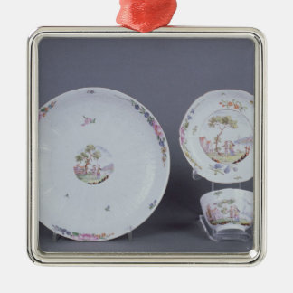 Worcester teabowl and saucer and dish christmas ornament