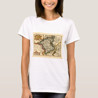 Worcestershire County Map, England T-Shirt