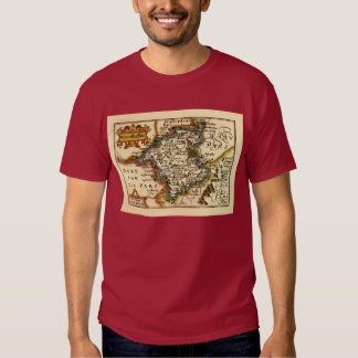Worcestershire County Map, England T Shirt