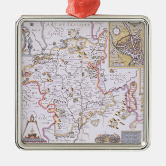 Worchestershire, engraved by Jodocus Hondius Christmas Ornament