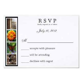 Word Art Alphabet Photography LOVE RSVP Card 9 Cm X 13 Cm Invitation Card
