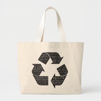 Word art bag reminds us of many ways to conserve