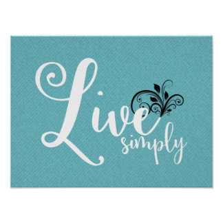 "Word Art ""Live Simply"" 