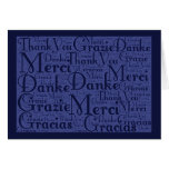 Word Art: Thank You in Multi Languages - Blue #2