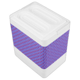 Word Art USA Text, Blue-24 Can IGLOO CHEST COOLER Igloo Cooler