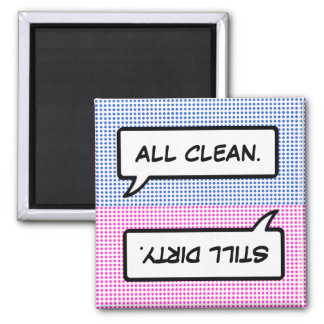 Word Bubble Clean / Dirty Dishwasher Magnet