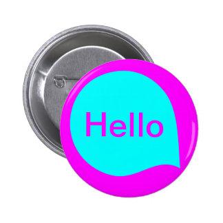 Word Bubble - Cyan on Magenta 6 Cm Round Badge