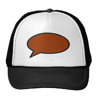 Word Bubble Left Brown The MUSEUM Zazzle Gifts Cap