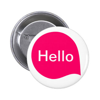 Word Bubble - Neon Red on White 6 Cm Round Badge