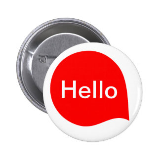 Word Bubble - Red on White 6 Cm Round Badge