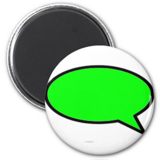 Word Bubble Right Green The MUSEUM Zazzle Gifts 6 Cm Round Magnet