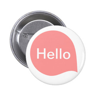Word Bubble - Soft Pink on White 6 Cm Round Badge