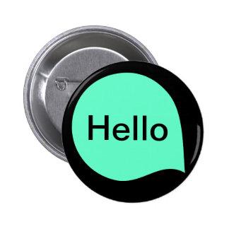 Word Bubble - Turquoise on Black 6 Cm Round Badge