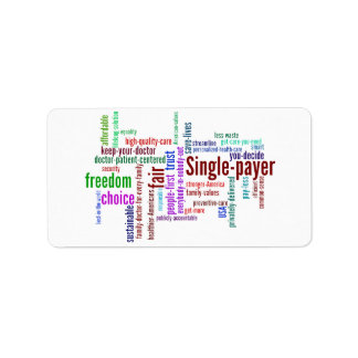 Word Cloud Address Label