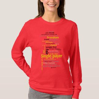 Word Cloud L-sleeve T-shirt