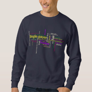 Word Cloud Navy Sweatshirt