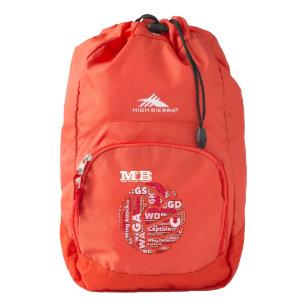e7399f262c7b Word Cloud Netball Team Personalised Backpack