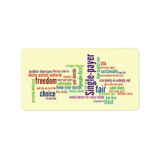Word Cloud Sticker Address Label