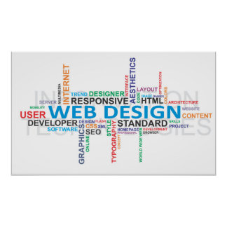 word cloud - webdesign poster