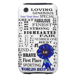 Word Collage Fathers Day iPhone 3G/3GS Tough Case iPhone 3 Tough Case