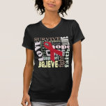 Word Collage Inspiration T-Shirt for Stroke, AIDS