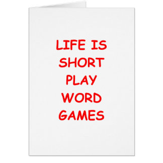 word games greeting card