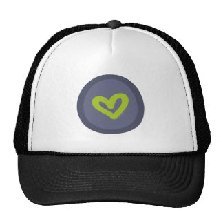 Word HUGS Heart Trucker Hats