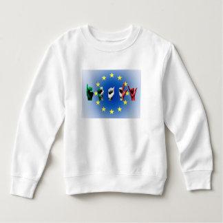 Word Italy over the European Union flag Sweatshirt