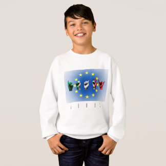 Word Italy over the European Union flag Sweatshirt