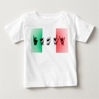 Word Italy over the italian flag Baby T-Shirt