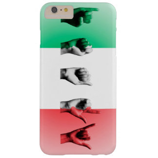 Word Italy over the italian flag Barely There iPhone 6 Plus Case