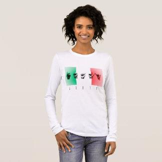 Word Italy over the italian flag Long Sleeve T-Shirt