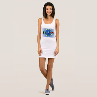 Word Italy over the italian flag Sleeveless Dress