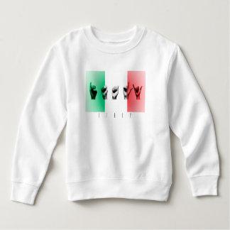 Word Italy over the italian flag Sweatshirt