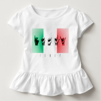 Word Italy over the italian flag Toddler T-Shirt