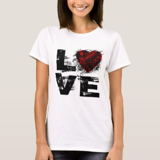 Word Love In Grunge Style T Shirt