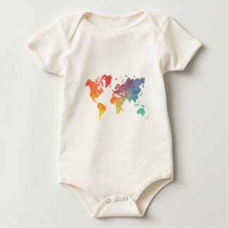 word map 5 baby bodysuit