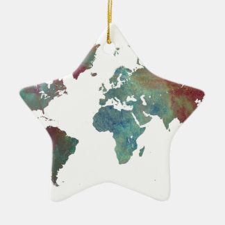 word map after dark christmas ornament