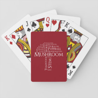 Word Mushroom Classic Playing Cards (White Text)