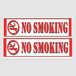 word no smoking sticker