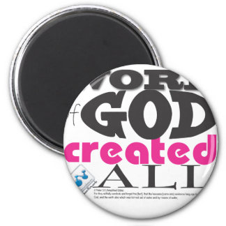 WORD OF GOD created all 6 Cm Round Magnet
